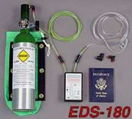 EDS Single place oxygen system with aluminum bottle.