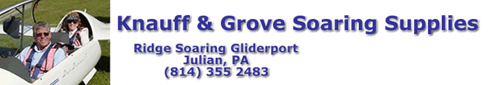 Seat Cushions - Knauff and Grove Soaring Supplies - Julian Pennsylvania